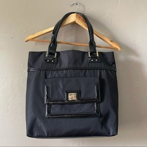 Kate Spade | nylon and patent leather tote